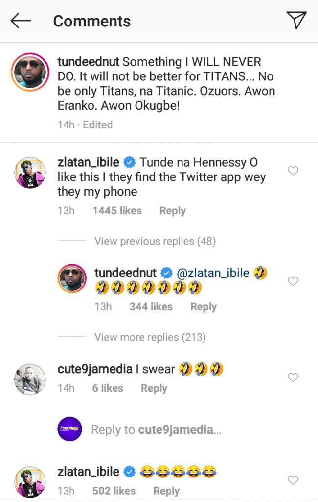 Zlatan Explains The Reason Why He Said He Loves Tacha