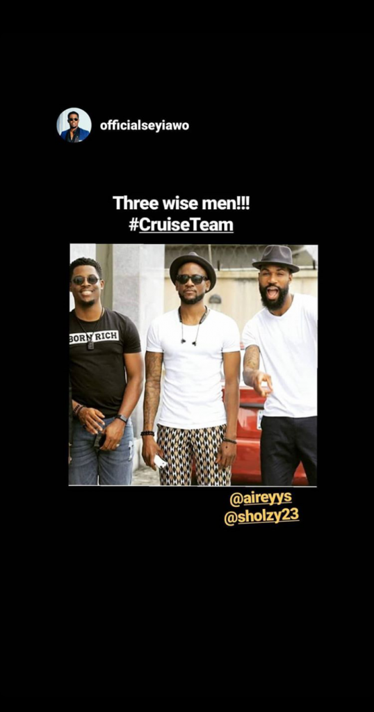 """Mike, Omashola & Seyi Decleares Themselves """" Three Wise Men """""""