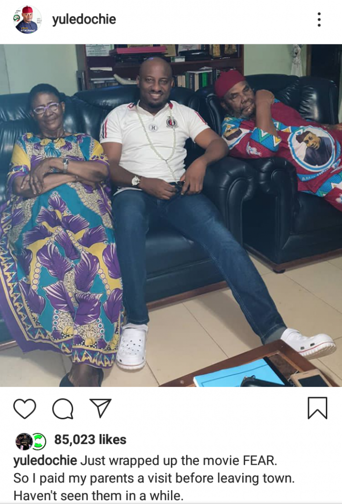 Pete Edochie And His Wife, Relax With Their, After Long Time Of Seeing Him