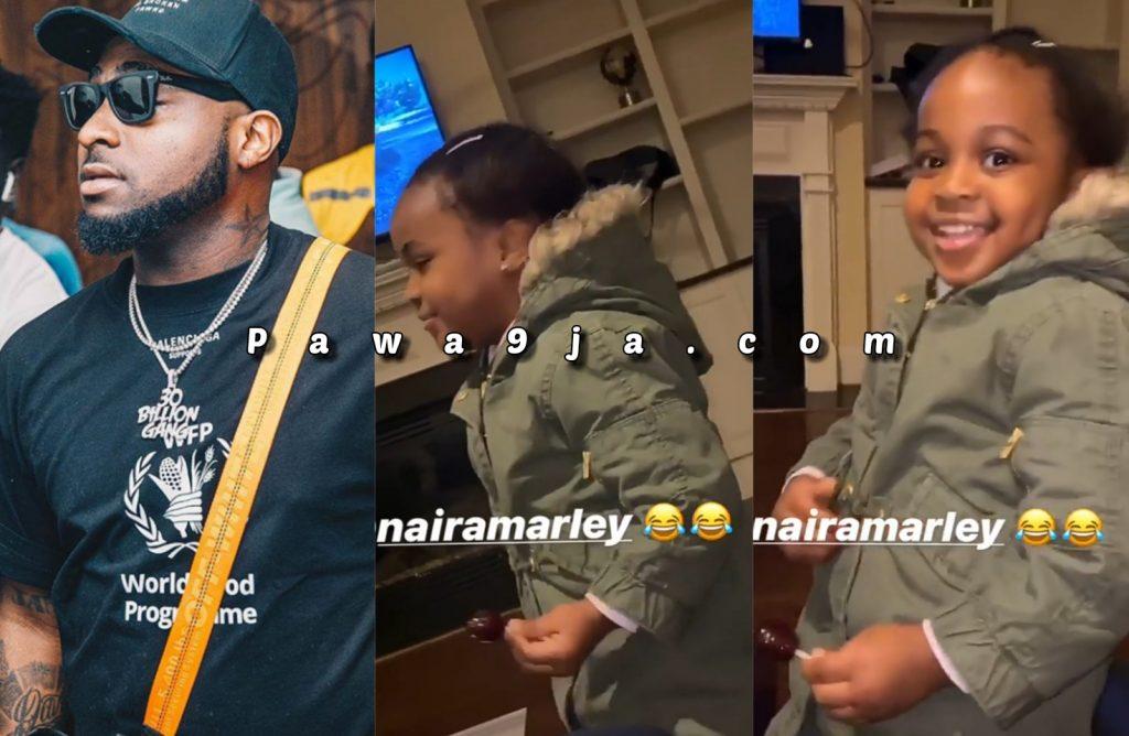 Davido Shares A Video Of  Her Daughter, Hailey Singing Naira Marley's Song ' Soapy '