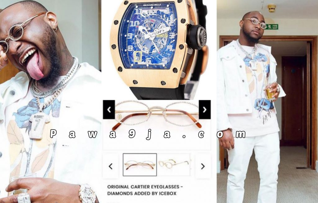 Davido Acquires ₦70,000000 Wristwatch and ₦5000000 Eyeglasses