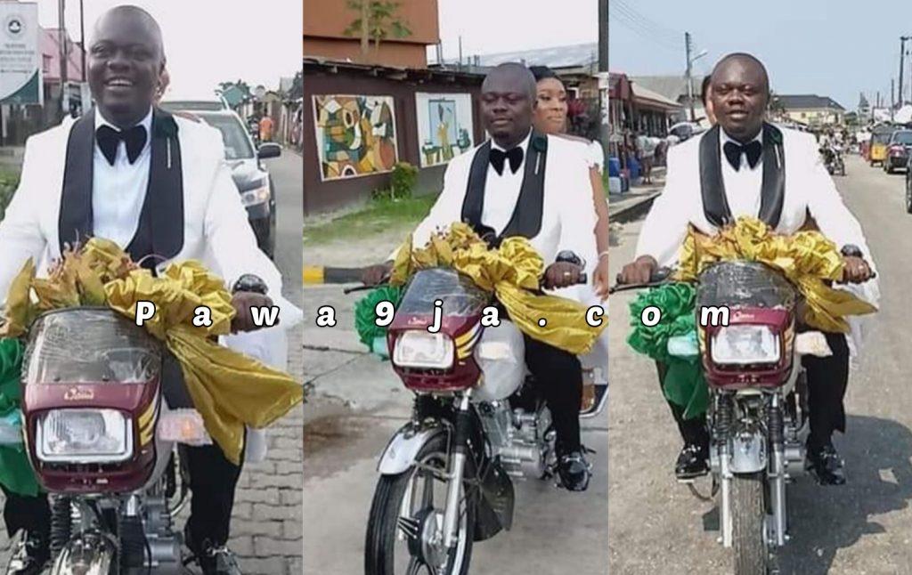 Okada Man And His New Bride Causes Commotion As They Share Their Wedding Photos On Okada
