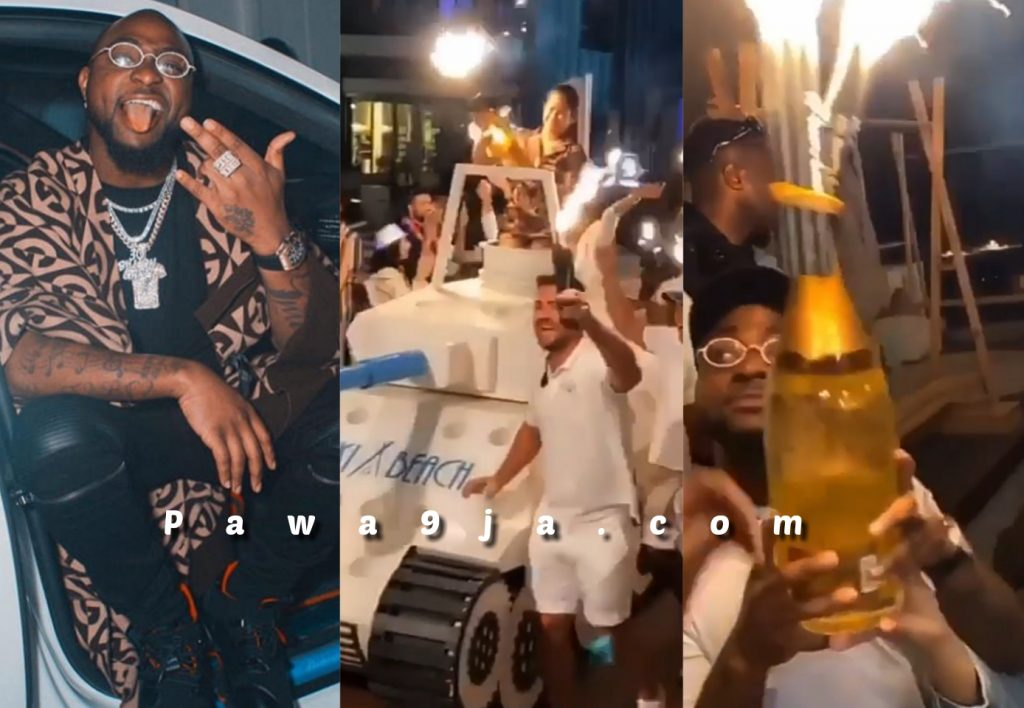 Dubai Hotel Delivers Davido's Expensive Drink He Purchased With An Armored Tank
