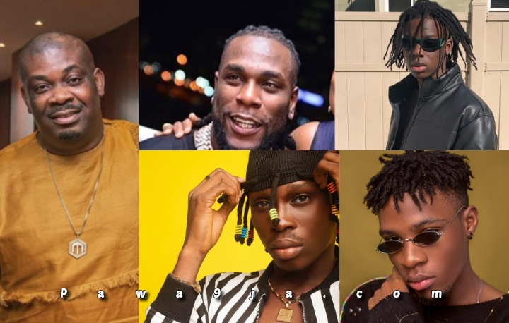 """Year of the """"Boys"""".  Fireboy, JoeBoy, RemyBoy and oga pataPata African giant Burnaboy.  🙌🏽🙌🏽🙌🏽."""