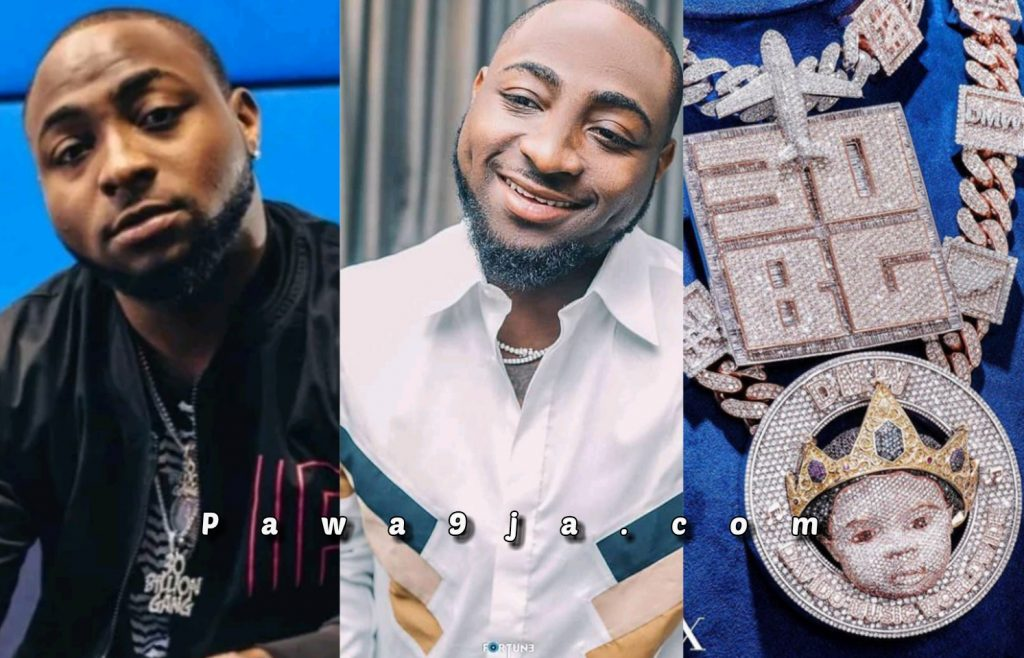 """"""" I didn't come here to play """" Davido Says As He Flaunts His Multi Millionaire Diamond Chains"""