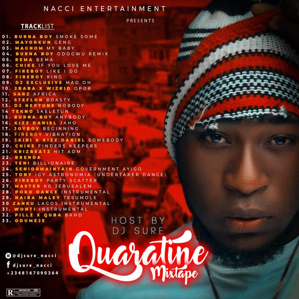 """DJ Sure - """" Quarantine Mixtape """""""