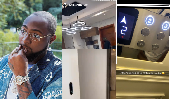Davido flaunts the interior of his new house at Banana Island (Photos)