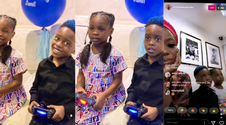 """Happy birthday bestie "" - David's Daughter, Imade celebrates Tiwa Savage's son Jamil on his birthday"