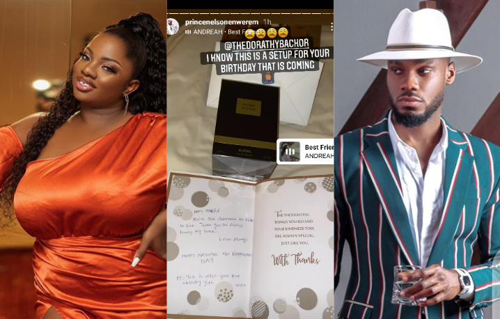 """#BBNaija: """"You are a definition of ride or die"""" - Dorathy sends lovely message to Prince as she wishes him Happy Boyfriends Day, Prince reacts."""