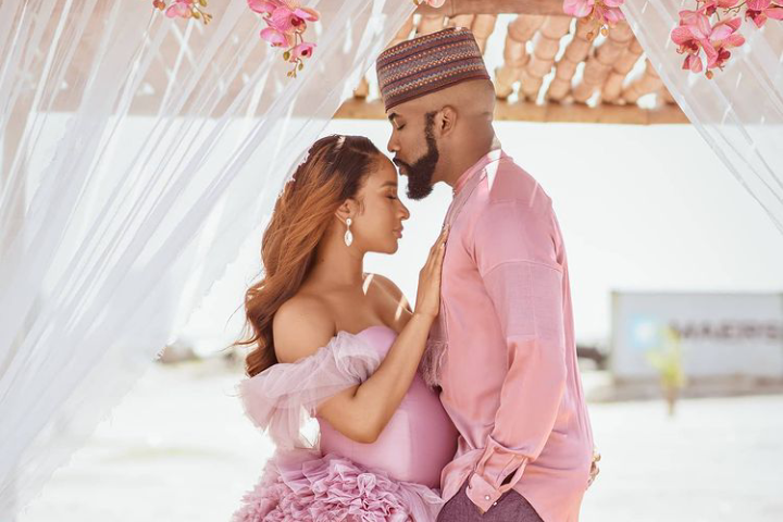 Banky W and W Adesua Etomi Welcome's First Child (Photos)