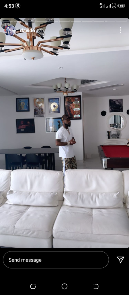 Davido shares adorable video of his son, Ifeanyi playing with him in his house, despite rumours that Chioma vowed to distance Ifeanyi from him (video)