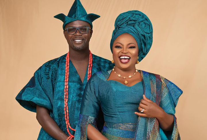 Days after buying hers, Actress Funke Akindele's Husband JJC Skilz acquires his own SUV too