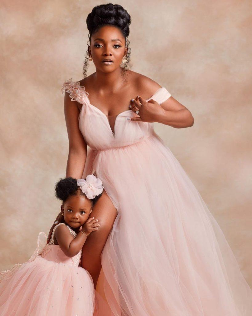 Adekunle Gold and Simi writes as their Child, Deja clocks one
