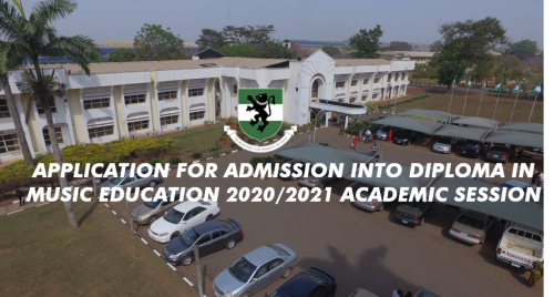 UNN RELEASE APPLICATION FORM FOR DIPLOMA IN MUSIC EDUCATION 2020/2021