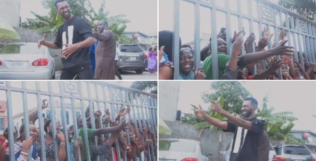 Screaming crowd welcomes evicted BBN housemate Yousef, he entertains them with signature dance steps (Video)