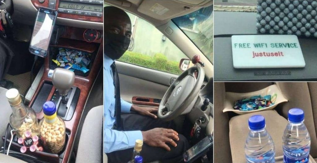 Taxi driver gets monetary gifts after impressing passengers with Refreshments, WiFi